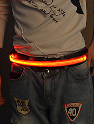 cheap -LED Reflective Belt Luminous for Running Cycling / Bike Jogging Textile White Red Blue Button Battery Powered