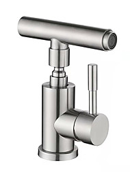 cheap -Bathroom Sink Faucet - Widespread Stainless Steel Other Single Handle One HoleBath Taps