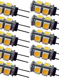 cheap -10pcs 1.5 W LED Bi-pin Lights 120 lm G4 9 LED Beads SMD 5050 Warm White White 12 V
