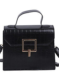 cheap -Women's Polyester / PU Top Handle Bag Crocodile Black / Brown / Dark Brown