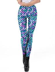 cheap -Women's Dailywear / Yoga Sporty / Basic Legging - Geometric, Print Mid Waist Purple S M L