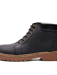 cheap -Men's Comfort Shoes PU Fall & Winter Boots Booties / Ankle Boots Black / Brown / Light Brown