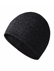 cheap -Skull Caps Running Beanie Men's Women's Solid Colored Headwear Thermal / Warm Windproof Breathable for Running Fitness Jogging Fleece Sweater Autumn / Fall Spring Winter Black