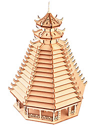 Недорогие -3D пазлы Деревянные пазлы Китайская архитектура моделирование Ручная работа деревянный 264 pcs Детские Взрослые Все Игрушки Подарок