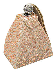 cheap -Women's Crystals / Glitter Alloy Evening Bag Black / Champagne / Gold