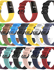 cheap -Watch Band for Fitbit Charge 3 / 3SE Fitbit Sport Band Fashion Soft Silicone Wrist Strap