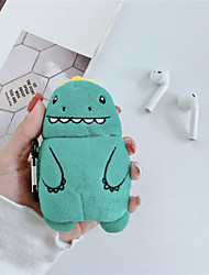cheap -Case for Apple Air Pods 1st generation 2nd generation universal lovely Cartoon dinosaur modeling PVC Texture fiber Plush Skin Bluetooth earphone Protective shell