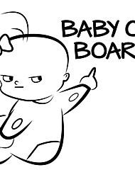 Недорогие -2 шт. Ребенок на борту забавный виниловый стикер автомобиля предупреждающий знак наклейка прекрасный для окна автомобиля / задней двери