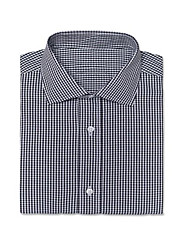 cheap -Helston Gingham Black Shirt