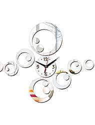 cheap -Modern Contemporary Acrylic Irregular Indoor Battery Decoration Wall Clock Mirror Polished No