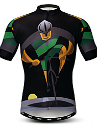 cheap -21Grams Men's Short Sleeve Cycling Jersey Black Novelty Bike Jersey Top Mountain Bike MTB Road Bike Cycling Breathable Moisture Wicking Quick Dry Sports Polyester Elastane Terylene Clothing Apparel