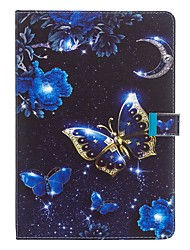 cheap -Case For Apple iPad Air / iPad 4/3/2 / iPad (2018) Wallet / with Stand / Pattern Full Body Cases Butterfly PU Leather
