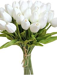 Недорогие -искусственные цветы тюльпана, подходящие для партийного свадебного украшения 3 палки