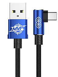 cheap -Baseus MVP Elbow Type Cable USB For Type-C 1.5A 2M  Black/Blue/Red