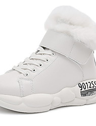 cheap -Women's Boots Flat Heel Round Toe PU Booties / Ankle Boots Fall & Winter Beige