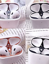 cheap -Case For Apple Scene Picture Air Pods Cartoon Pattern Metallic Bluetooth Headphone Case Dustproof Sticker JMGD