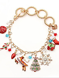 cheap -Dainty Charm Cute Alloy Bracelet Jewelry Red / Yellow For Christmas