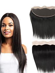 cheap -Brazilian Hair / Vietnamese Hair 4x13 Closure Straight Free Part Swiss Lace Virgin Human Hair / Remy Human Hair Women's Dailywear