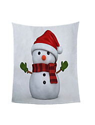 cheap -Christmas Size Customized Blanket Ready Made Digital Print for Autumn /Winter Thickened Warm Coral Blanket