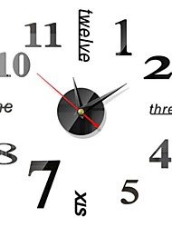 cheap -Clock Watch Wall Clocks 3d Diy Acrylic Mirror Stickers Home Decoration Living Room