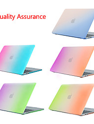 cheap -Frosted Gradient Rainbow Case for Apple MacBook Air Pro Retina Air Pro 15 13 12 11 Protective Laptop Cover Mac Book 13.3 15.5