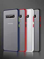 cheap -Fashion Matte Hard PC Case For Samsung Galaxy S10 Plus S10E S9 Plus S8 Plus Note 10 Plus A70 A50 A40 A30 A20 A20E A10 Note 9 Note 8 Shockproof Transparent Phone Back Cove Soft TPU Edge