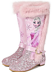 cheap -Girls' Comfort PU Boots Big Kids(7years +) Blue / Pink Winter / Knee High Boots
