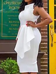 cheap -Women's Sheath Dress - Solid Colored White Blushing Pink S M L XL