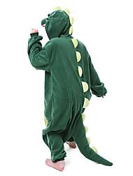 cheap -Adults' Kigurumi Pajamas Dinosaur Animal Onesie Pajamas Polar Fleece Green Cosplay For Men and Women Animal Sleepwear Cartoon Festival / Holiday Costumes / Leotard / Onesie / Leotard / Onesie