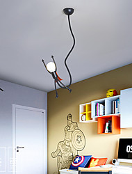 cheap -1-Light Personality Cartoon Superman Chandelier Bedroom Children's Room Children's Clothing Store LED Chandelier