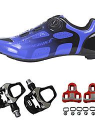 cheap -SIDEBIKE Adults' Bike Shoes Breathable Road Cycling Cycling / Bike Recreational Cycling Bule / Black Men's Women's Cycling Shoes
