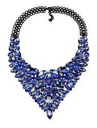 cheap -Women's Synthetic Diamond Collar Necklace Pear Cut Water Drop Necklace Statement Chrome White Red Rainbow Dark Blue 48 cm Necklace Jewelry 1pc For Wedding Engagement Festival