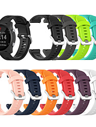 cheap -20mm Soft Silicone Replacement Watch Band Strap for Garmin Forerunner 245 Music/645 Music//Vivomove HR