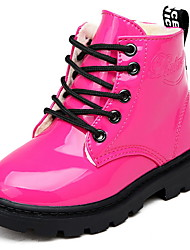 cheap -Girls' Comfort PU Boots Little Kids(4-7ys) Black / Fuchsia / Yellow Winter / Booties / Ankle Boots