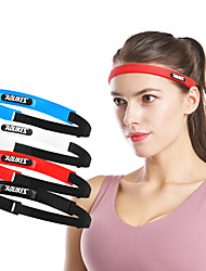 cheap -Headbands for Running Exercise & Fitness Jogging Moisture Wicking Comfortable Durable Men's Women's Cotton / Polyester Silicon 1 Piece Sports & Outdoor Black White Red