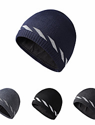cheap -Skull Caps Running Beanie Men's Women's Solid Colored Headwear Thermal / Warm Reflective Windproof for Running Fitness Jogging Sweater Autumn / Fall Spring Winter Black Dark Grey Grey / Breathable