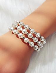 cheap -Women's Bracelet Geometrical Joy Dream Believe Luxury Trendy Sweet Elegant French Pearl Bracelet Jewelry White For Wedding Party Engagement Gift Festival
