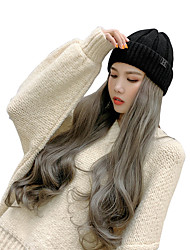 cheap -Extension Cosplay Wig Wavy Body Wave Loose Wave Free Part Wig Long Black#1B Grey Pink Blue Red Synthetic Hair 20-24 inch Women's Fashionable Design Gift Cosplay Dark Gray Brown / Heat Resistant
