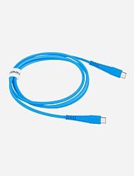 Недорогие -Type-C Кабель 1.2m (4FT) Быстрая зарядка Алюминий / TPE Адаптер USB-кабеля Назначение Huawei / Nokia / Lenovo