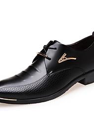 cheap -Men's Formal Shoes PU Fall Oxfords Black / Brown
