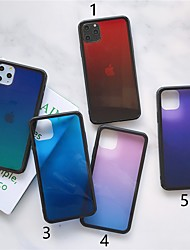 cheap -Case For Apple iPhone 11 / iPhone 11 Pro / iPhone 11 Pro Max Ultra-thin Back Cover Color Gradient TPU / Tempered Glass