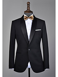 cheap -Black shawl lapel wool custom tuxedo