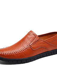 cheap -Men's Comfort Shoes PU Fall & Winter Loafers & Slip-Ons Black / Brown / Light Brown