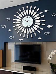 cheap -Wall Clock Mirror Decorative Round Clock Metal Living Room Decor Quiet Quartz Clocks Modern Minimalist Clocks