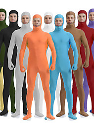 cheap -Zentai Suits Skin Suit Full Body Suit Ninja Adults' Spandex Lycra Cosplay Costumes Sex Men's Women's Black / Brown / White Solid Colored Halloween / Leotard / Onesie / Leotard / Onesie