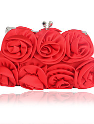 cheap -Women's Flower Silk Evening Bag Solid Color Wine / White / Purple