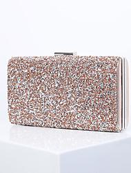 cheap -Women's Glitter Alloy Evening Bag Black / Black Grey / Black / White