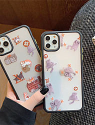 cheap -Case For Apple iPhone 11 / iPhone 11 Pro / iPhone 11 Pro Max Shockproof / Frosted / Translucent Full Body Cases Cat / Dog TPU