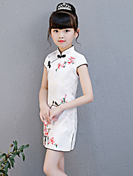 cheap -Kid's Girls' Chinese Style Chinese Style Cheongsam Qipao For Party Daily Cotton Halloween Carnival Masquerade Cheongsam