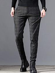 cheap -Men's Street chic Chinos Pants - Plaid Black Blue Gray US32 / UK32 / EU40 US34 / UK34 / EU42 US36 / UK36 / EU44